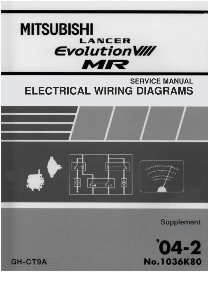 Lancer Evolution 8 Electrical Wiring Diagram Pdf 1 21 Mb Repair Manuals English En